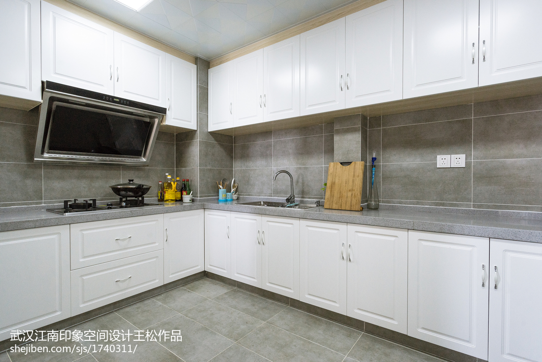 2018精选76平米二居厨房混搭装修图