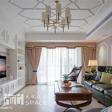 2018精选107平米三居客厅美式装修实景图片大全
