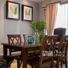 精选面积104平美式三居餐厅装修实景图片