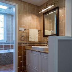 热门面积99平美式三居卫生间装饰图片大全