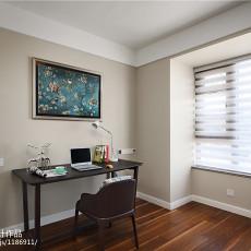 热门面积97平现代三居书房装修实景图片