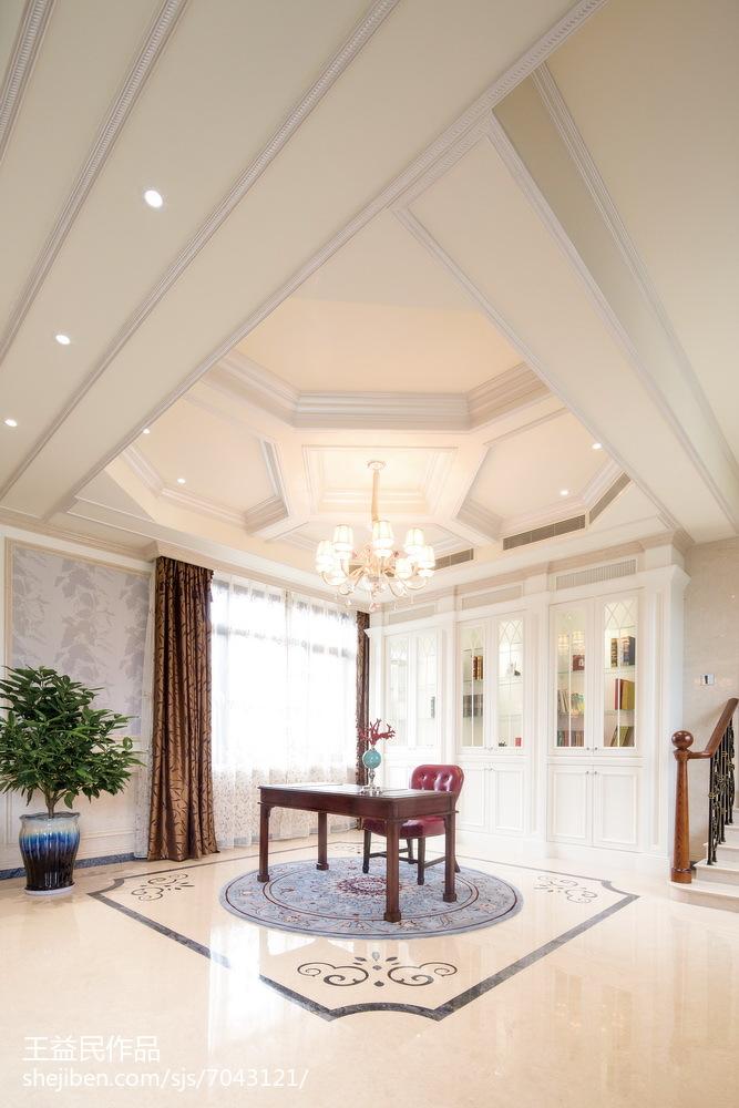 精美140平米美式别墅书房装修欣赏图片大全