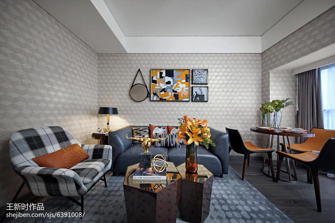 精美混搭客厅装饰图片