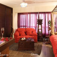 热门72平米东南亚小户型客厅装修欣赏图片