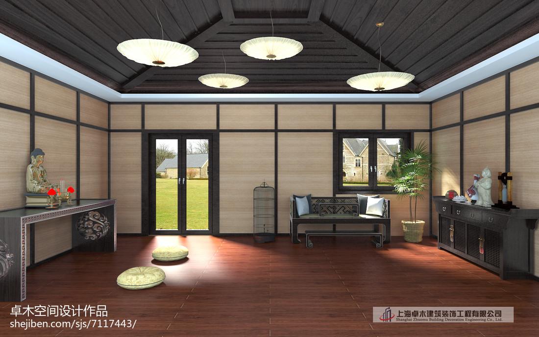 新中式时尚设计别墅室内装修图片