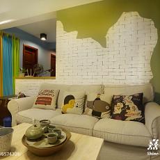 2018精选大小83平混搭二居客厅实景图片欣赏