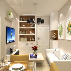 201871平米二居客厅复古装修实景图片欣赏