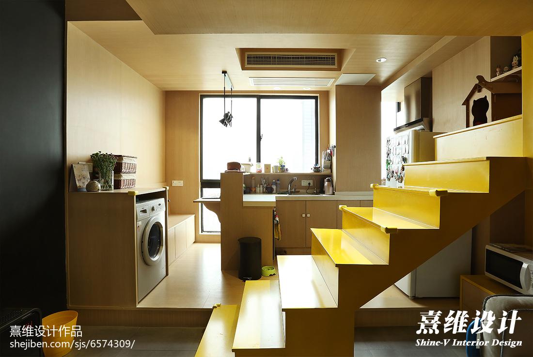 轻奢28平混搭小户型厨房效果图片大全