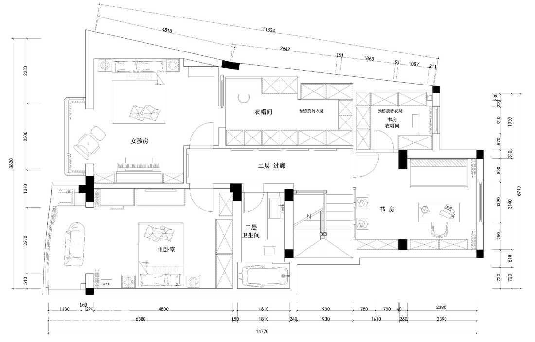 气质低奢现代化客厅装修效果图