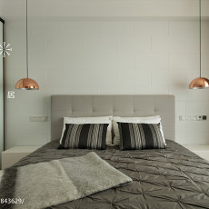 2018精选面积102平现代三居卧室装修设计效果图片大全
