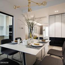 2018精选面积98平现代三居餐厅装修效果图片大全