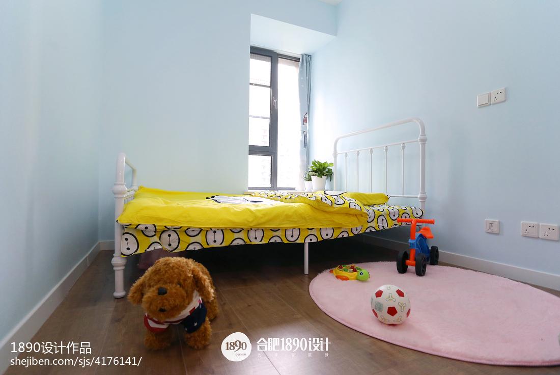 2018面积104平北欧三居儿童房装修效果图片大全