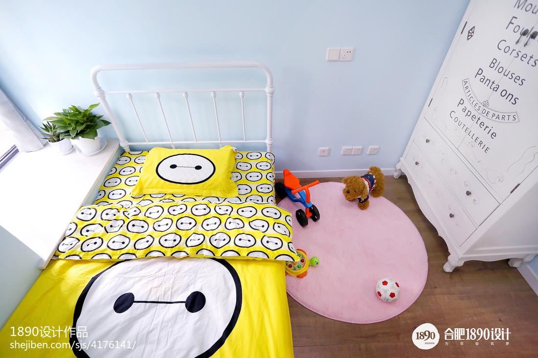 精选面积93平北欧三居儿童房实景图片
