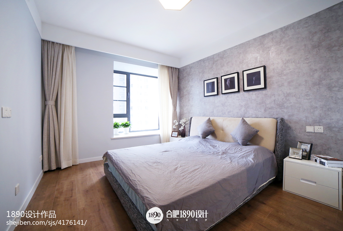 101平米三居卧室北欧装修图片欣赏