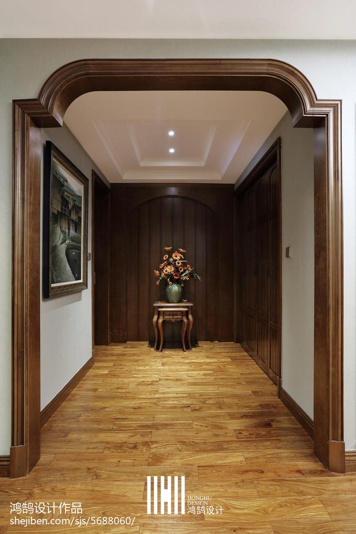 精美96平米三居玄关简欧装饰图片
