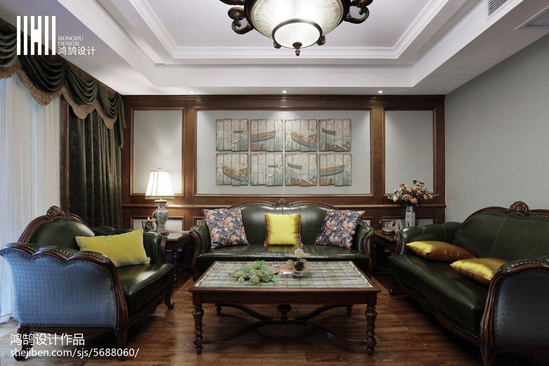 热门面积92平简欧三居客厅欣赏图