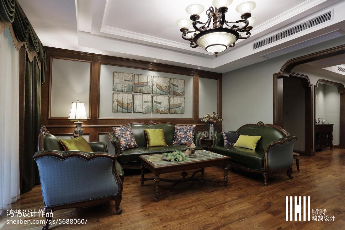 热门107平米三居客厅简欧设计效果图