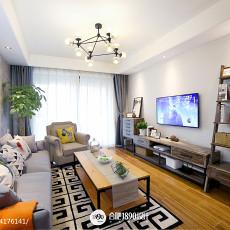 精选大小101平北欧三居客厅装修欣赏图