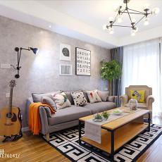 精选106平米三居客厅北欧实景图