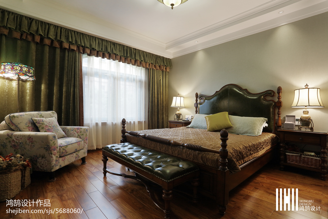 精美面积95平简欧三居卧室装修效果图