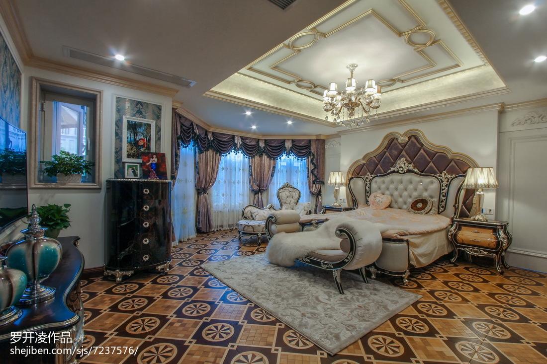 奢华欧式风格别墅卧室布置