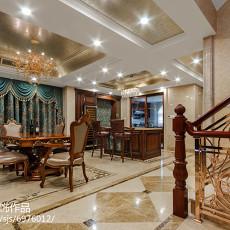 126平米新古典别墅餐厅欣赏图片大全