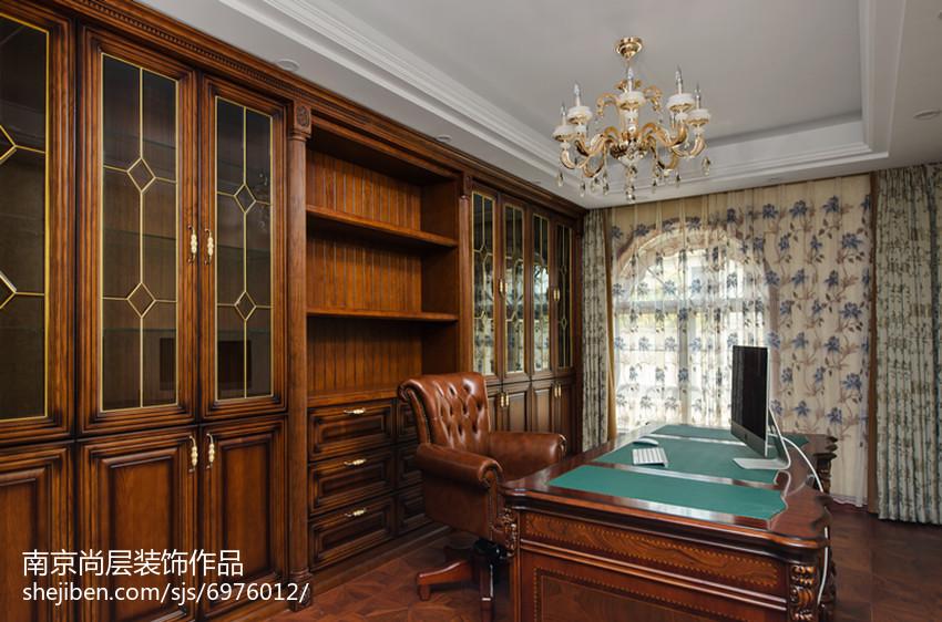 热门144平米新古典别墅书房装修欣赏图片大全