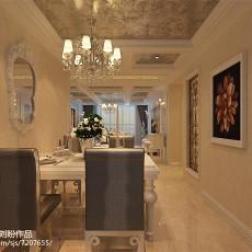 精美面积77平欧式二居餐厅欣赏图片大全