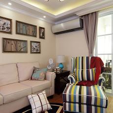 精选大小75平美式二居客厅欣赏图片