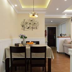 热门面积71平美式二居餐厅装修欣赏图片