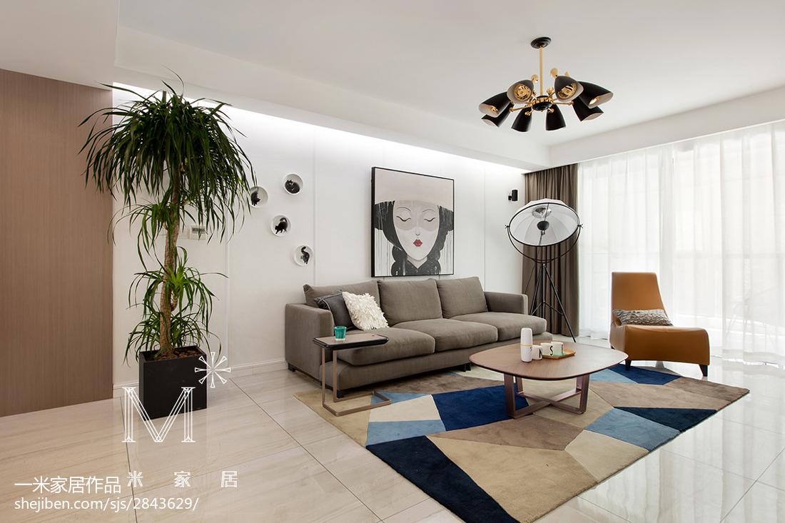 热门大小79平北欧二居客厅装饰图片大全