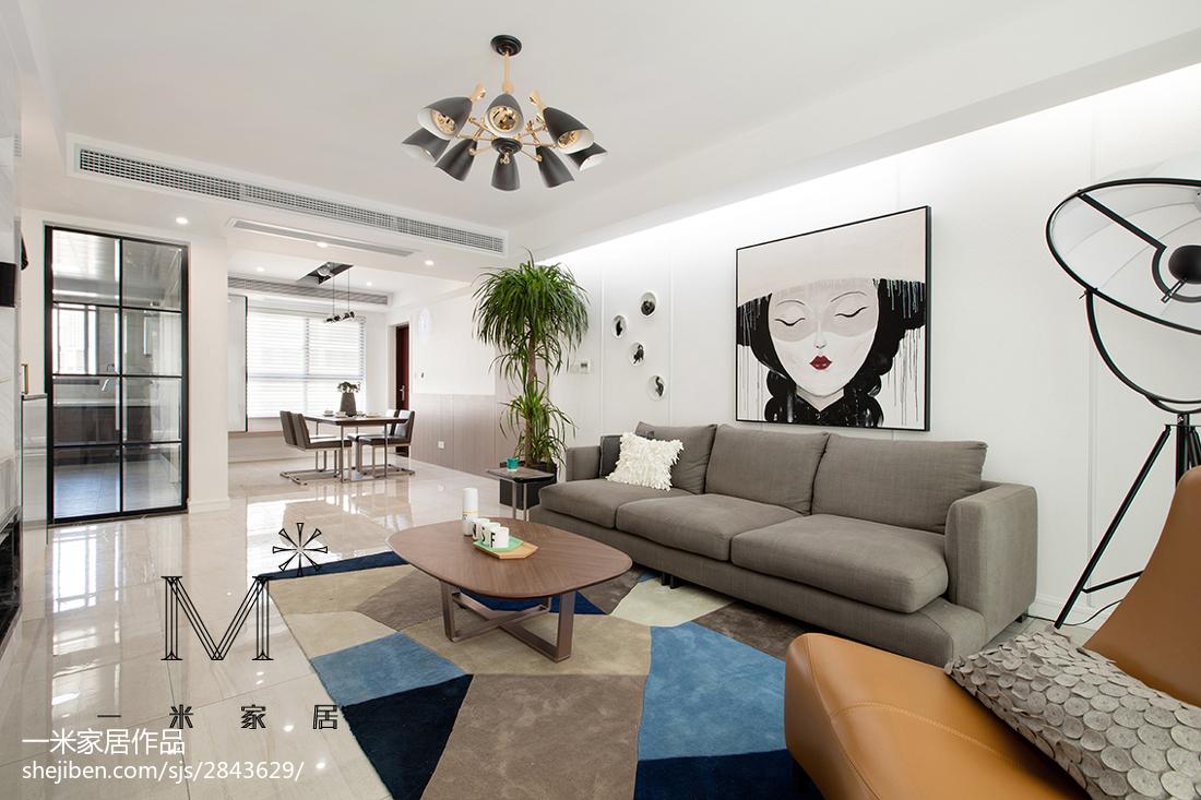 面积75平北欧二居客厅欣赏图片大全