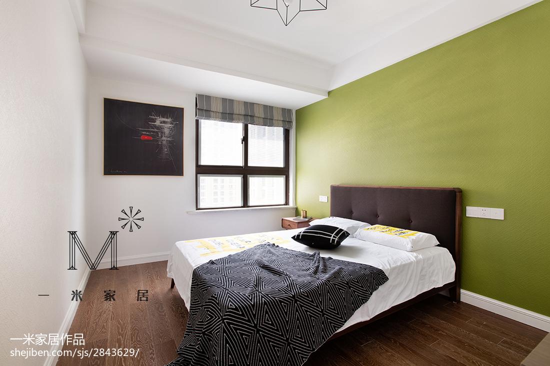 2018面积86平北欧二居卧室装修欣赏图片