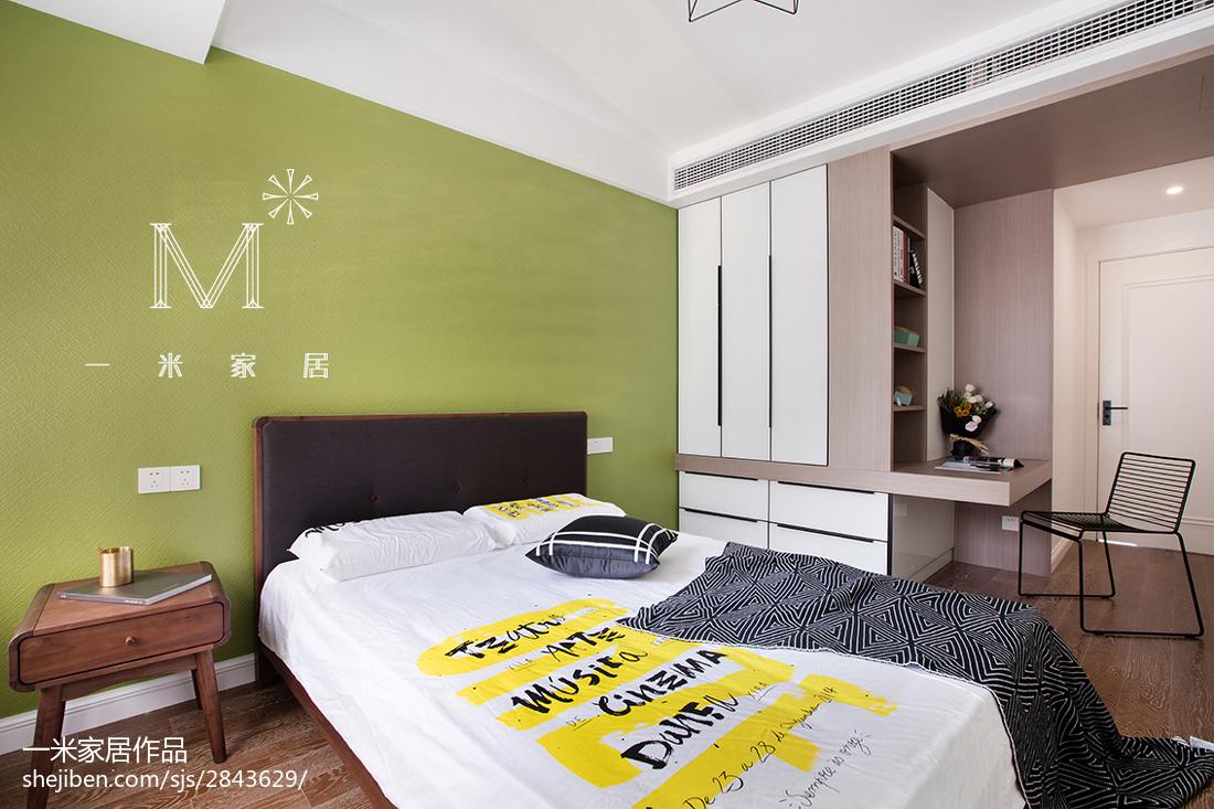 精美71平米二居卧室北欧效果图片