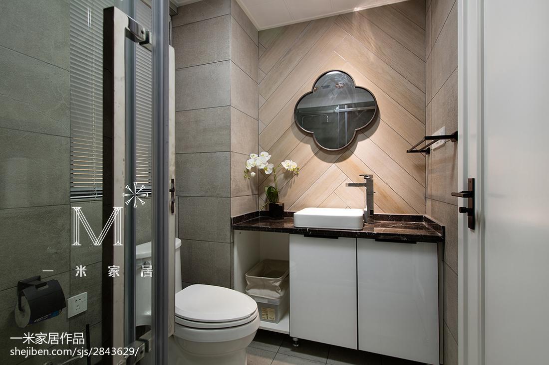 精选85平米二居卫生间北欧装修效果图片欣赏