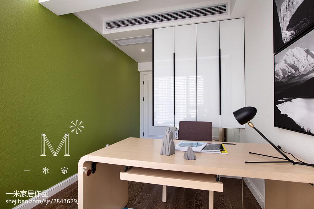 2018北欧二居书房装修设计效果图片