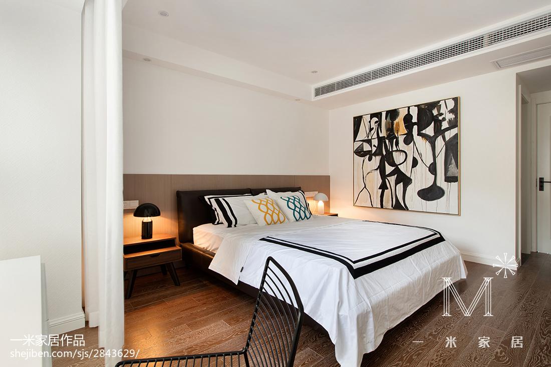 精选73平米二居卧室北欧装修图片欣赏