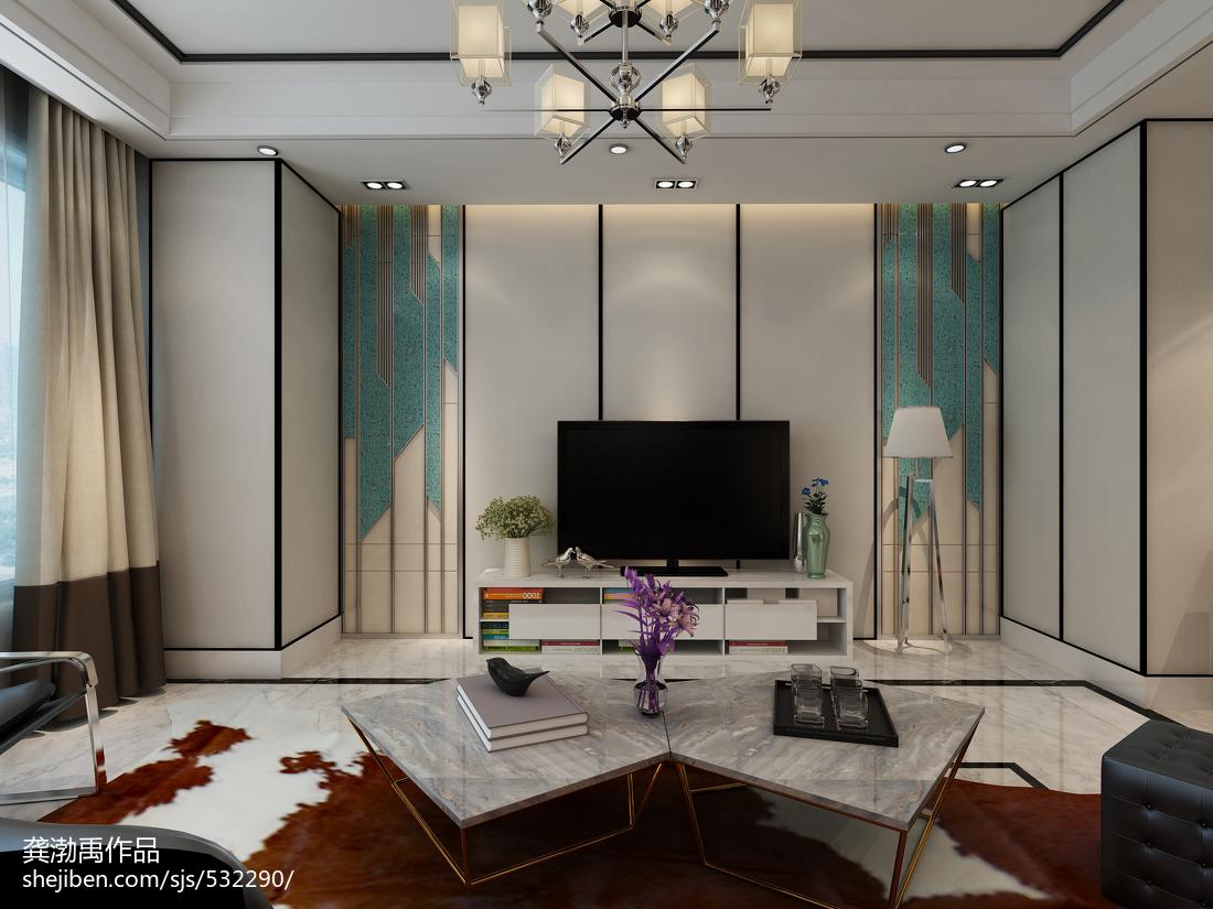 时尚现代风格背景墙装修效果图