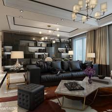 精美103平客厅三居现代装修实景图片