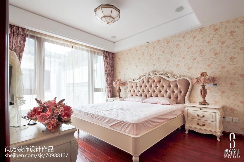 2018大小130平别墅卧室中式装修设计效果图片欣赏