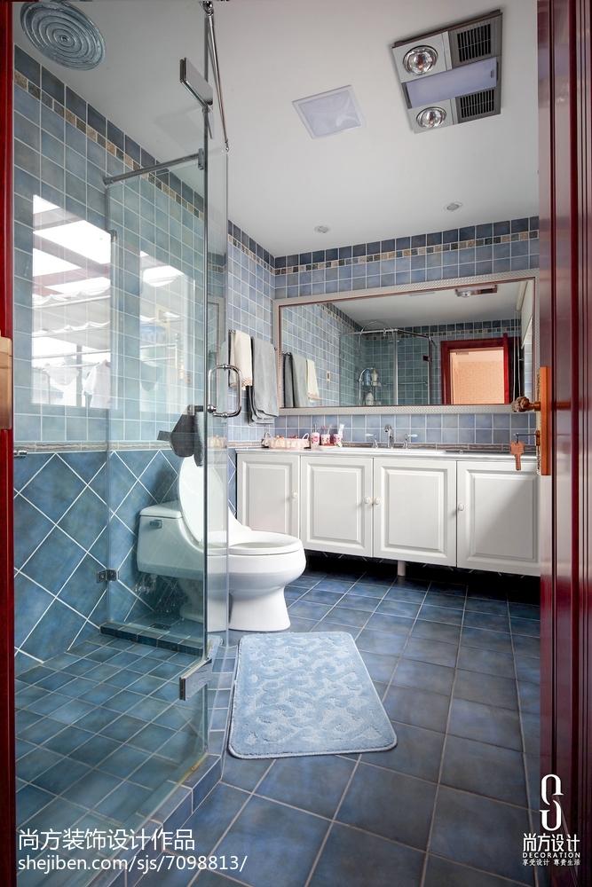 精美面积110平别墅卫生间中式装修图片欣赏