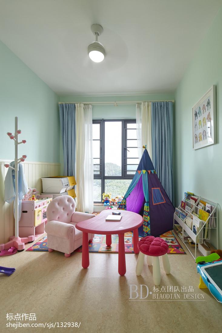 精致131平北欧四居儿童房设计案例