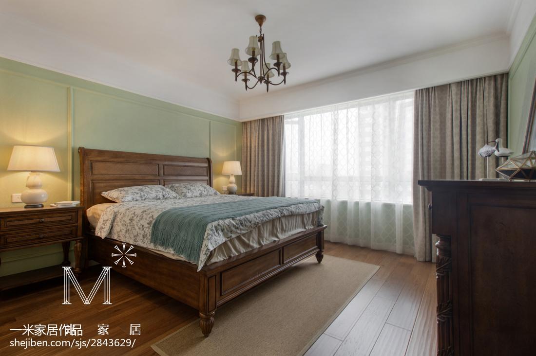 精美面积78平美式二居卧室实景图片大全