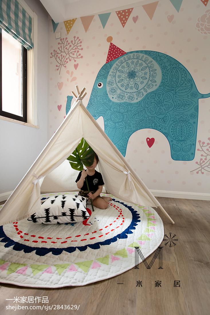 面积84平北欧二居儿童房装饰图片欣赏