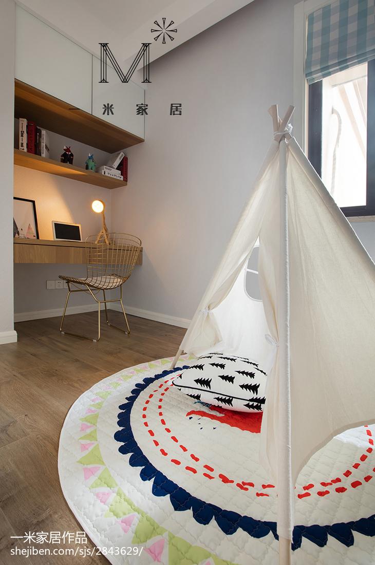 精美面积76平北欧二居儿童房装修图