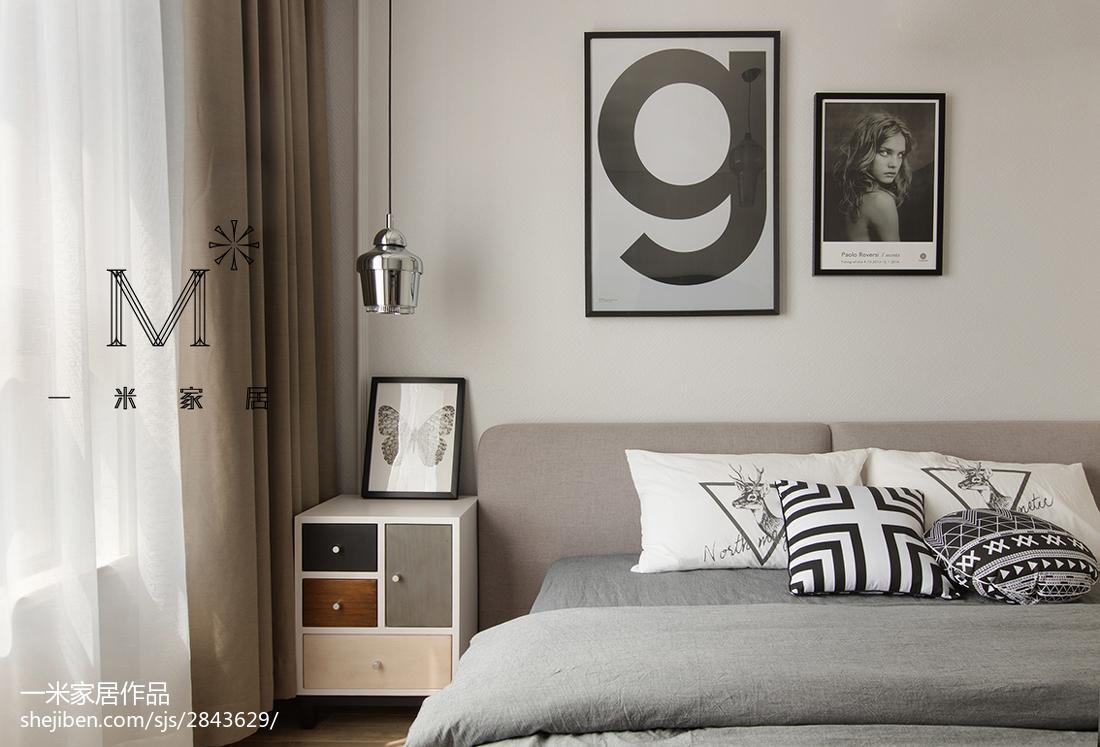 优美88平北欧二居卧室装修效果图