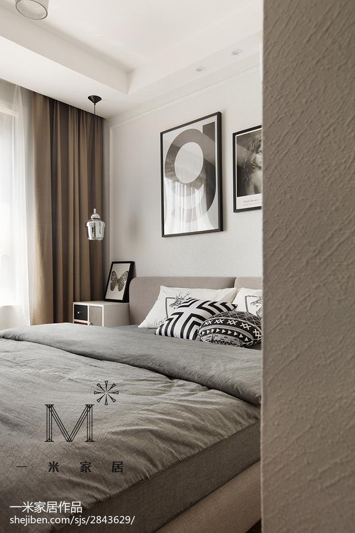 热门76平米二居卧室北欧实景图片大全