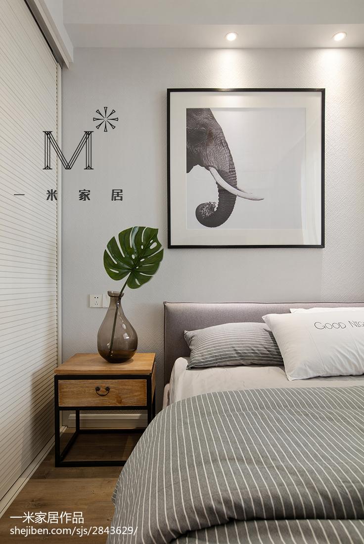 201882平米二居卧室北欧实景图