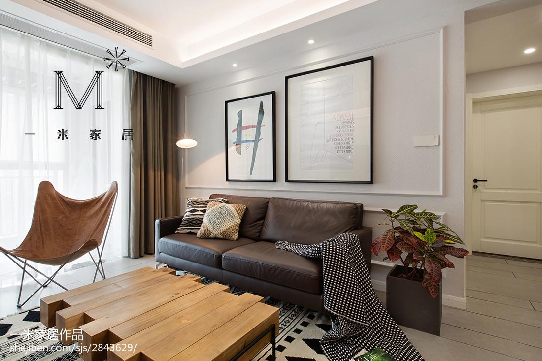 热门大小83平北欧二居客厅装修设计效果图片欣赏