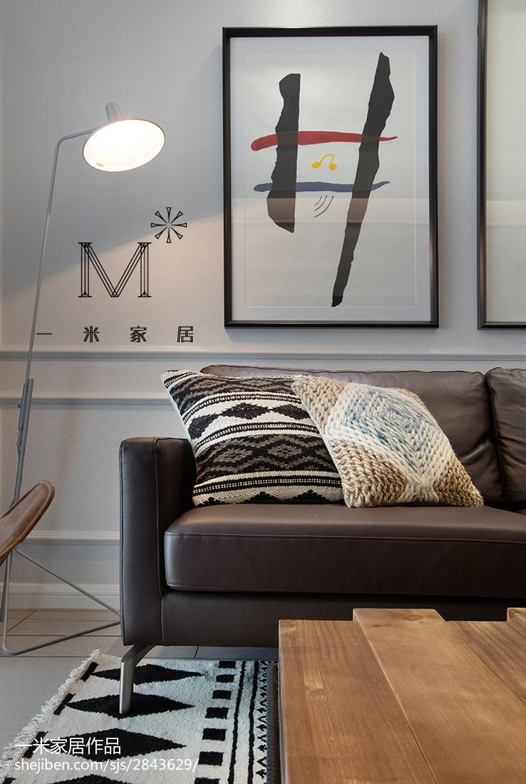 2018精选71平米二居客厅北欧装修欣赏图片